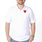Valentine's Day Heart Golf Shirt