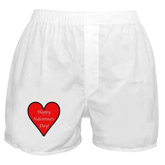 Valentine's Day Heart Boxer Shorts