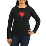 Valentine's Day Heart Women's Long Sleeve Dark T-S