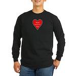 Valentine's Day Heart Long Sleeve Dark T-Shirt
