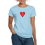 Valentine's Day Heart Women's Pink T-Shirt
