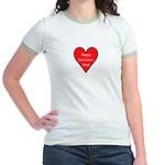 Valentine's Day Heart Jr. Ringer T-Shirt