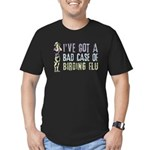Birding Flu Men's Fitted T-Shirt (dark)