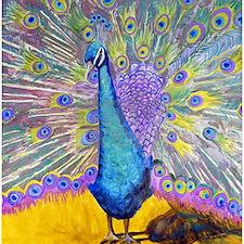 Peacock Dance Bathroom Shower Curtain